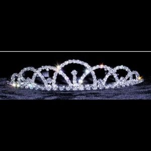 Accessories - Silver crystal rhinestone tiara Hairband with comb
